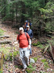 The hike along the Old Mount Mitchell Trail to and