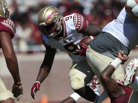 Following the departure of former star tailback Dalvin Cook, Florida State junior running back Jacques Patrick has stepped up as the new leader of the Seminoles backfield this spring.