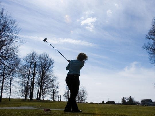 A player tees off at Victor Hills Golf Course in this 2006 file photo.