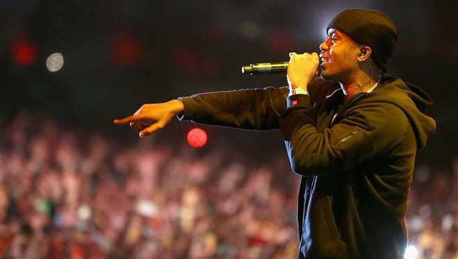 Nas performs in 2014.