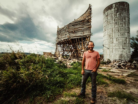Scott Hocking and his barn-to-ark project in Port Austin.