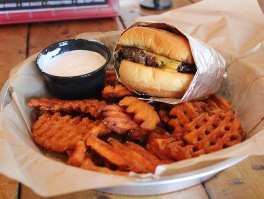 The angus burger at Burger U, a restaurant on East