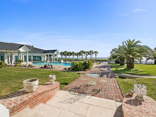 This beautiful estate has views of the lake from every