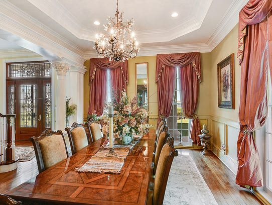 The beautiful dining room is perfect for family dinners