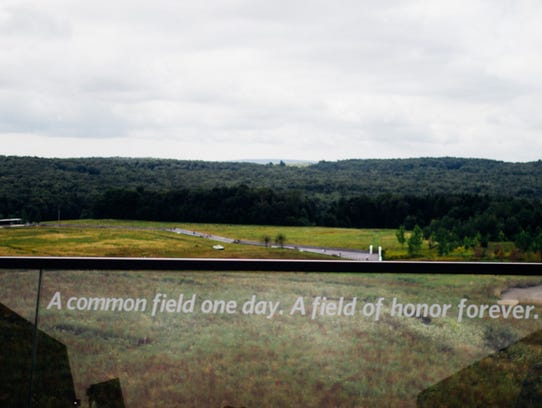 The Flight 93 National Memorial overlooks the site