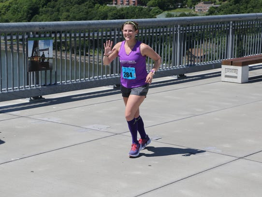 Tiffany Sivco, a Wappingers Falls resident, runs in