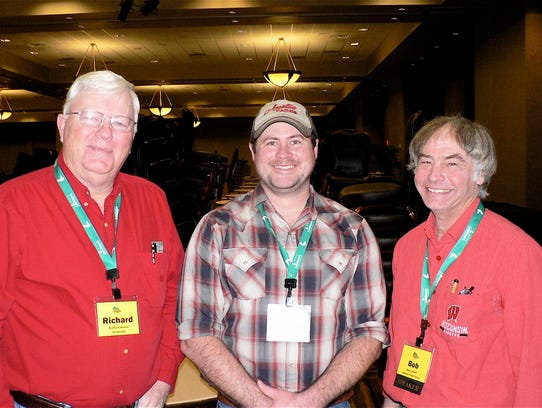 During lunch, Richard Austin (left), Brodhead, and