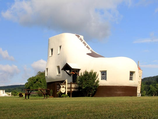 A visit to the quirky Haines Shoe House would easily