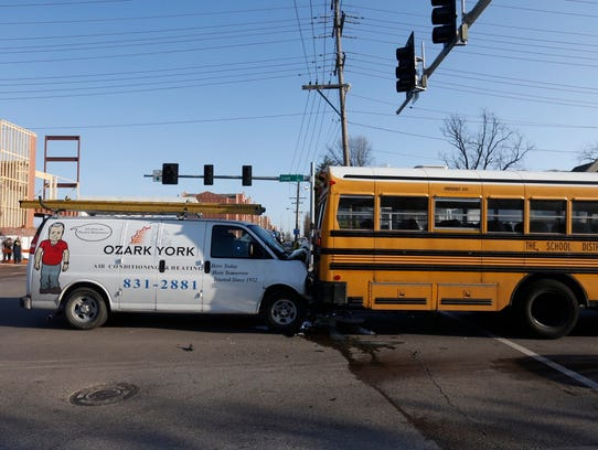 A Springfield Public Schools bus was involved in a