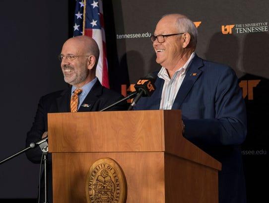 Tennessee President Joe DiPietro, left and Phillip
