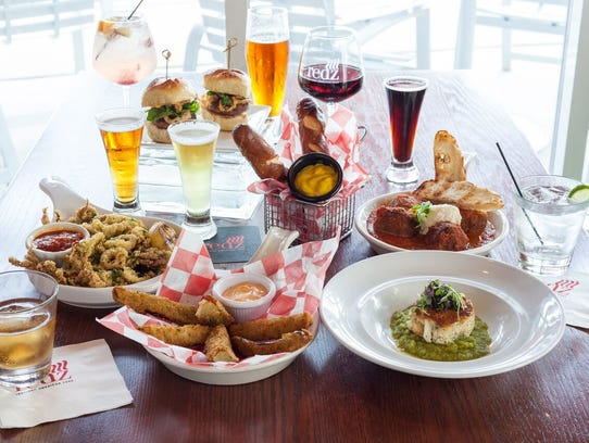 Seasonal bar bites, meet craft beer, at Redz.