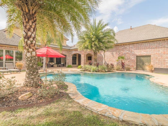 The beautiful pool area is perfect for entertaining.