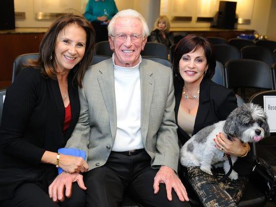 Diane and James Perrella, left, and Roberta Golub celebrate