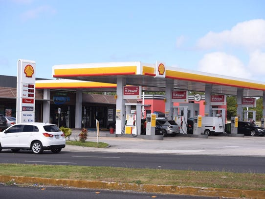 The Shell station just south of Micronesia Mall on