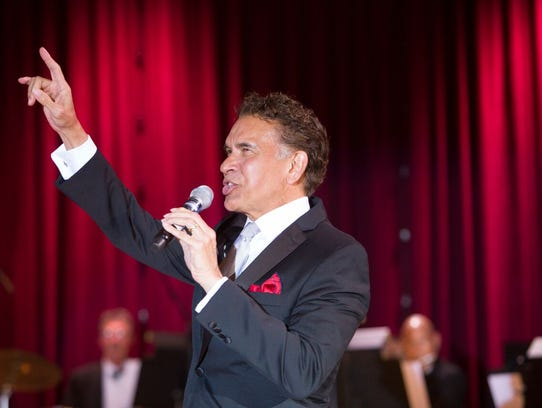 Brian  Stokes Mitchell, backed by a 10-piece orchestra,