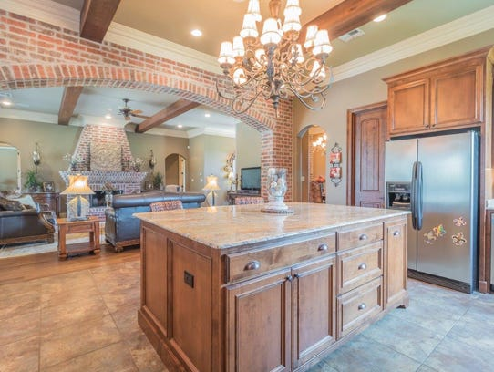 See inside this luxurious youngsville mansion for La kitchen delight