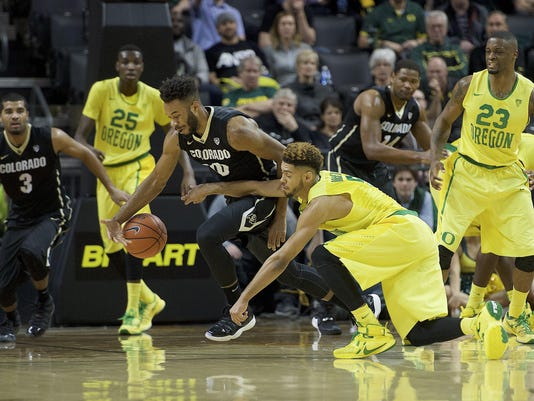 NCAA Basketball: Colorado at Oregon