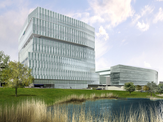 A rendering of Froedtert Hospital as it will appear