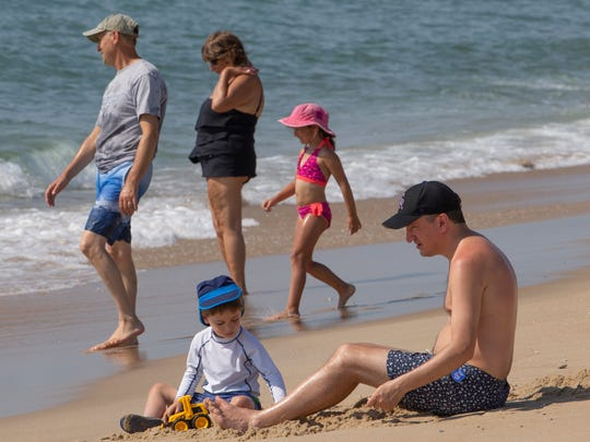 Beachgoers on New Jersey's Long Beach Island.