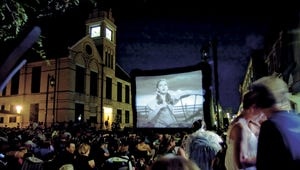 "The streets of Oconomowoc filled during a 2009 Moonlit Movies showing of ""The Wizard of Oz."" The city will host more movies this summer."