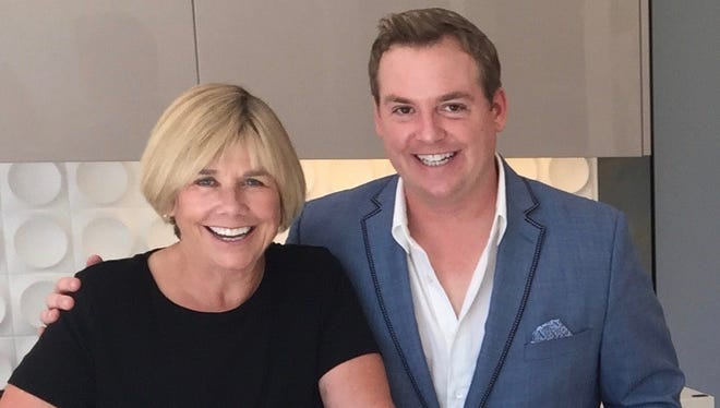 "(L to R) Susan Hunt, a part-time desert resident and Christopher Kennedy, a Palm Springs-based designer, will appear in ""House Hunters Renovation"" on HGTV on Saturday, Aug. 19, 2017."