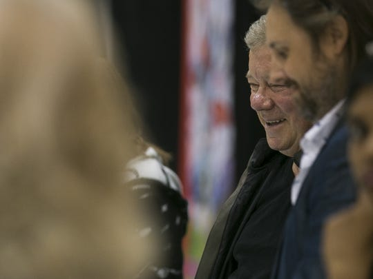 William Shatner greets fans and signs autographs at Phoenix Comic Fest on Friday May 25, 2018, in Phoenix, Ariz.