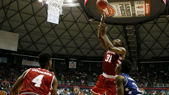 Rochester native Thomas Bryant, a sophomore center for Indiana, scored 16 of his 19 points in the first half and posted his third career double-double with 10 rebounds in the Hoosier's 103-99 overtime upset of No. 2 Kansas late Friday night in Hawaii.