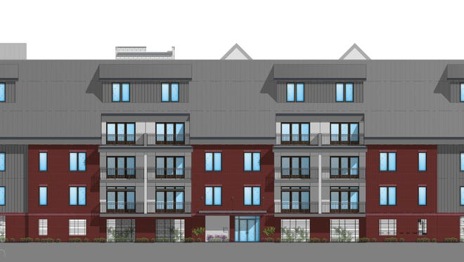 The east Whites Creek Pike elevation of the 38-unit condo project planned for 1016-1020 Whites Creek Pike.
