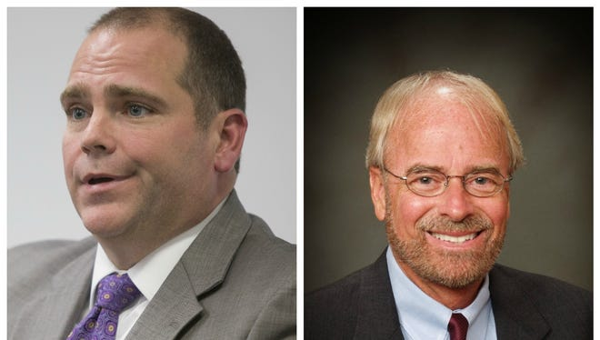 Candidates for state attorney Jack Campbell, left, and Pete Williams.