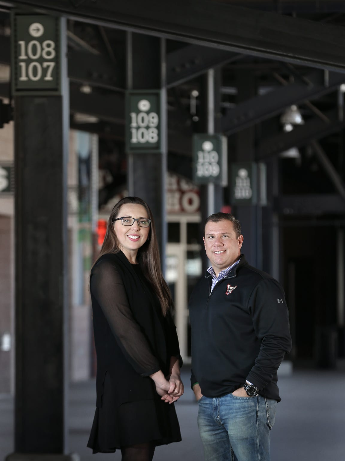 City of El Paso Economic and International Develpment Director Jessica L. Herrera and Chihuahuas Vice President and General Manager Brad Taylor are using the ballpark as a tool to attract economic development to the area.