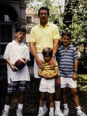 The Mannings: Clockwise from top are Archie, Peyton,