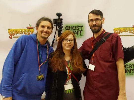 """The Third Day"" cast and crew (left to right) Matt Alexander, Tara Alexander and Dan Kofoed at the Scarefest premier of their film in Lexington, Kentucky earlier this month."