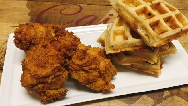 Buttermilk Fried Chicken & Maple Bacon Waffles