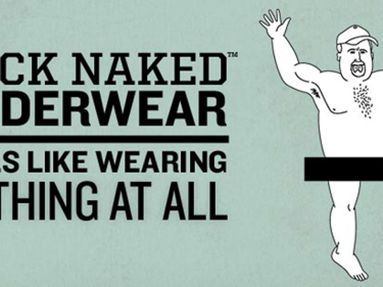 One of the cheeky types of ads  Duluth Trading Company is known for.