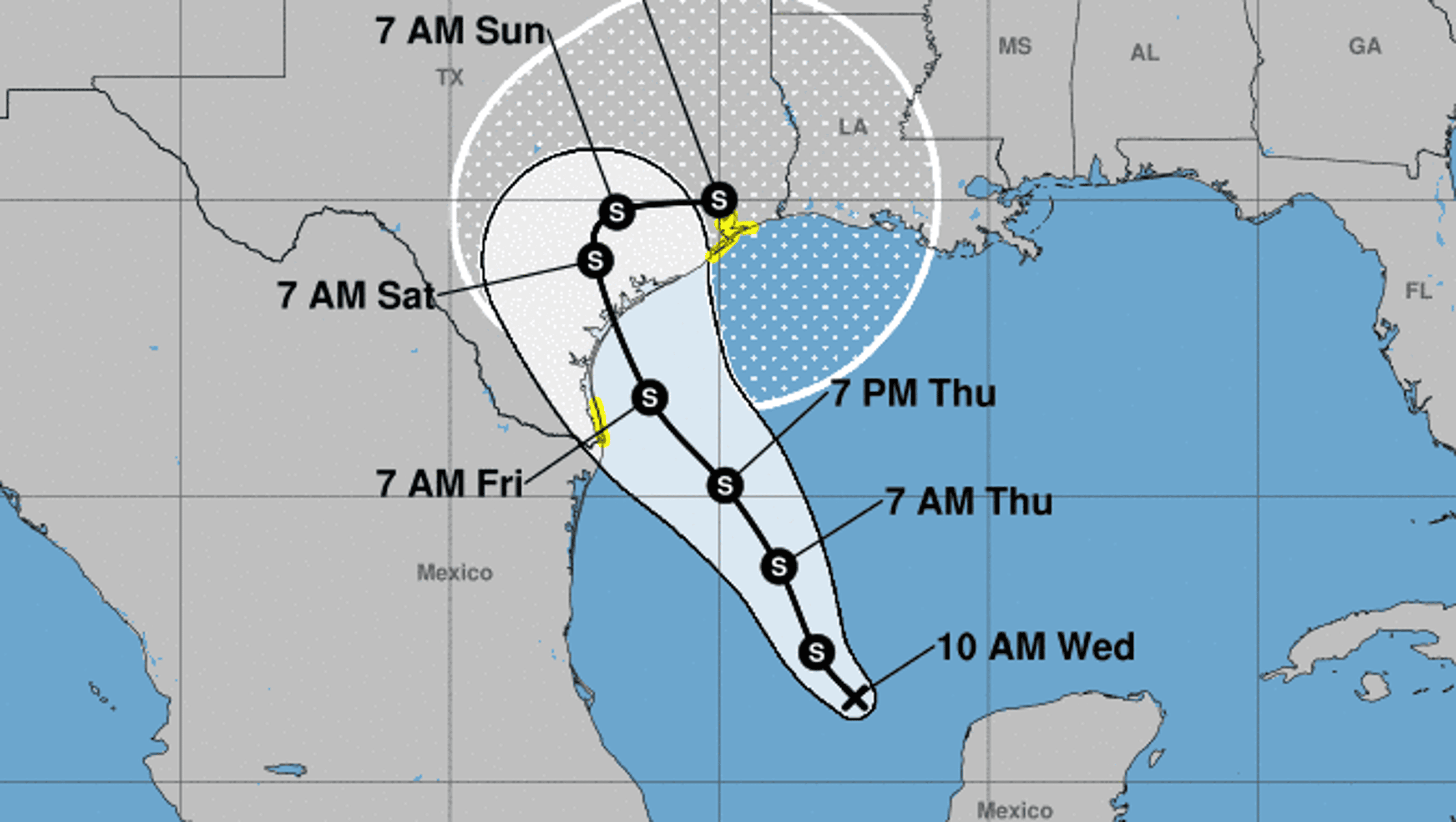 Tropical Depression Harvey Forecast To Hit Gulf Coast As A Hurricane By Weeks End