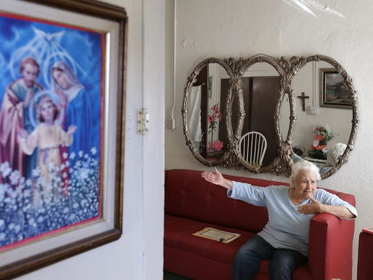 Antonia Morales has lived in Duranguito since 1988. She has seen the neighborhood go from crime-ridden to a safe, tight-knit community. If the downtown arena plans go forward, Morales will lose the apartment she has worked so hard to maintain.