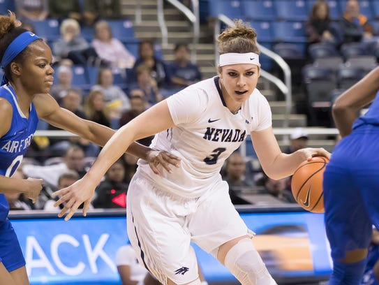Nevada post player Teige Zeller is the only Mountain