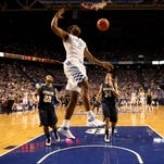 Aaron Harrison and top-ranked Kentucky improved to 5-0 Sunday with an 86-28 victory over Montana State.