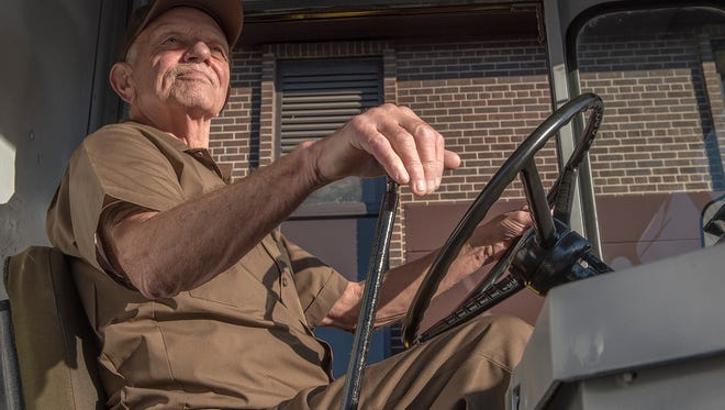 The only amenities for the driver of a 1964 UPS truck is a seat. It's a simple vehicle designed for one thing. Package delivery.
