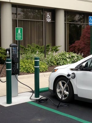 Embassy Suites  in Troy installed two charging stations for electric vehicles.