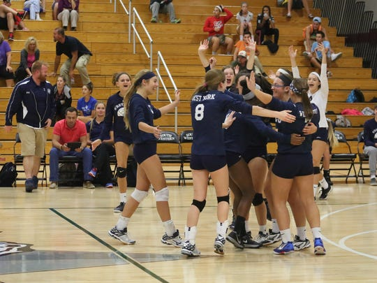 The West York girls' volleyball team holds a 15-1 record and perfect 10-0 mark in YAIAA Division II -- good for first place in the standings.