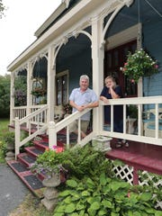 Neil Caplan, the executive director of the Bannerman Castle Trust, and Darlene Swann, are the owners of the bed and breakfast, the Swann Inn of Beacon, in Beacon, Aug. 8, 2017.