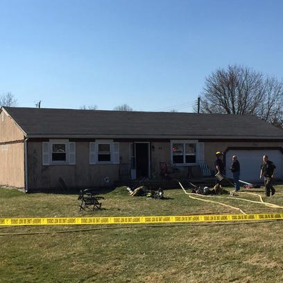 A house caught fire Wednesday in Etna Township.