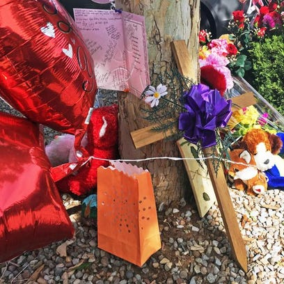 A memorial for 10-year-old Victoria Martens, who police