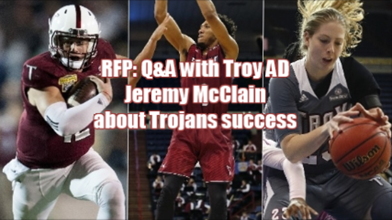 In a 1-on-1 interview, Montgomery Advertiser columnist Duane Rankin talked with Troy athletic director Jeremy McClain about the success of the football team and men's and women's basketball teams.