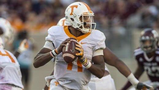 Tennessee quarterback Josh Dobbs
