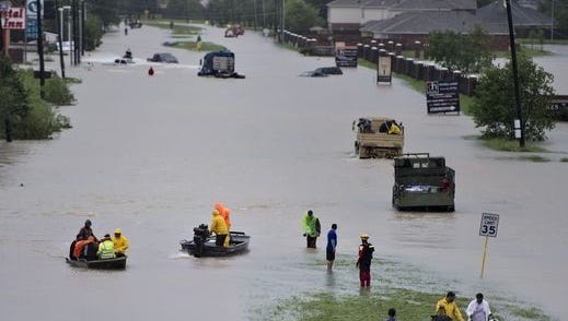 Flooded street in Houston