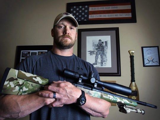 Navy SEAL Chris Kyle, a recipient of a secret Silver