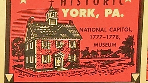 One of the 1961 stamps onYork County history