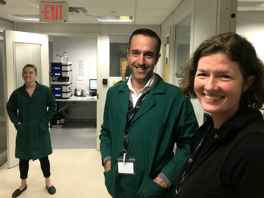 At the Milton lab: from left, Champlain Valley Dispensary
